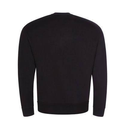 Black 3D Look Embroidered Eagle Logo Sweatshirt