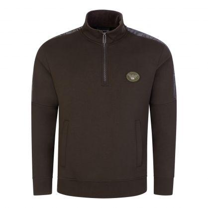 Green Logo Tape Zip-Through Sweatshirt