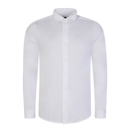 White Tencel Blend Shirt