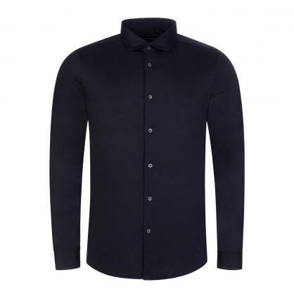 Navy Blue Tencel Blend Shirt
