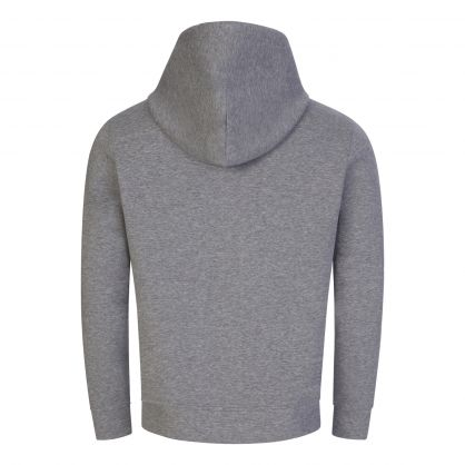 Grey Logo Patch Hoodie