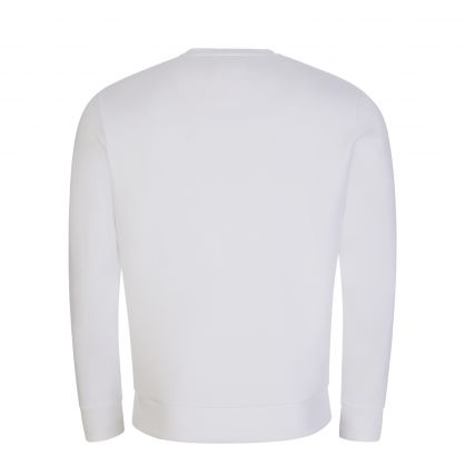 White Double-Jersey Logo Patch Sweatshirt