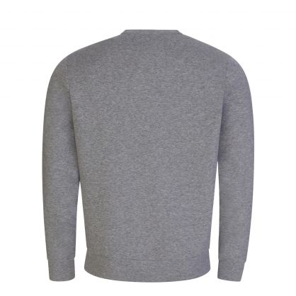 Grey Double-Jersey Logo Patch Sweatshirt