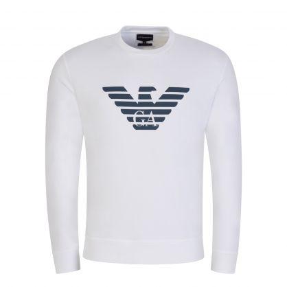 White Essential Logo Sweatshirt