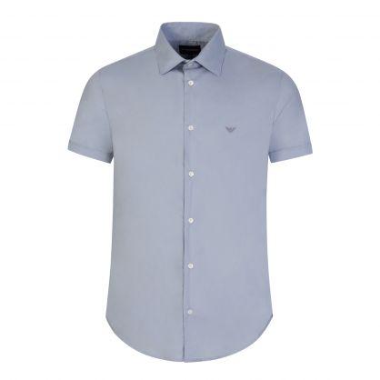 Light Blue Cotton Stretch Shirt