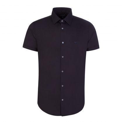 Dark Blue Cotton Stretch Shirt