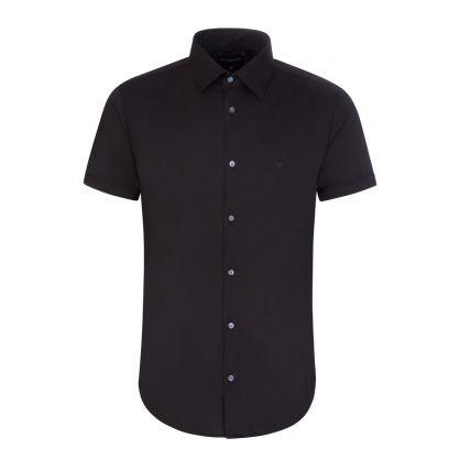 Black Cotton Stretch Shirt
