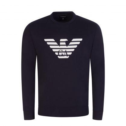 Navy Eagle Logo Sweatshirt