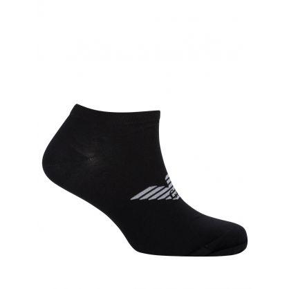 Black/White 3-Pack Invisible Socks