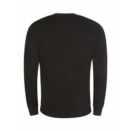 Black Embroidered Eagle Logo Sweatshirt