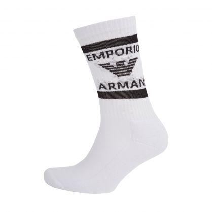 White Short Sponge Socks 2-Pack