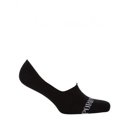 Black/Navy/White 3-Pk Invisible Trainer Socks