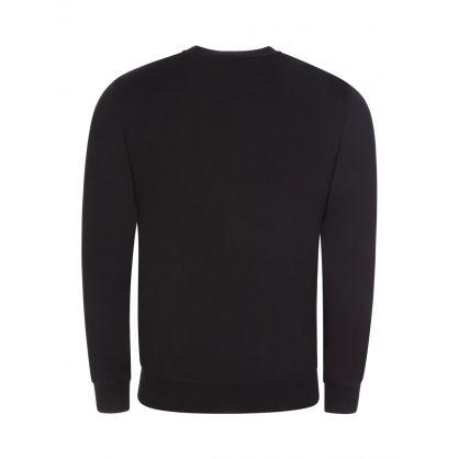 Black Shiny Eagle Logo Sweatshirt