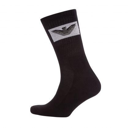 Black Eagle Logo Sponge Short Socks 3-Pack
