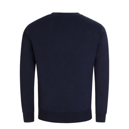 Dark Navy Basic Seagull Print Sweatshirt