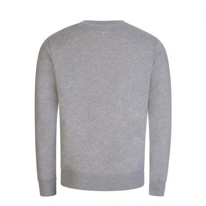 Grey Basic Seagull Print Sweatshirt