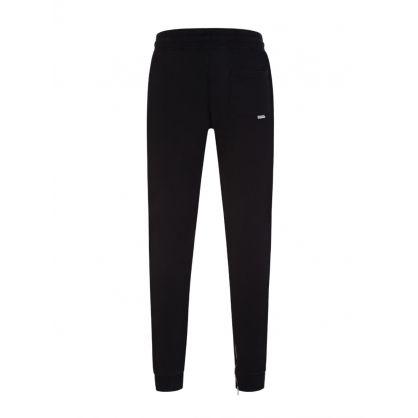 Black Essential Two Stripe Sweatpants 2.0