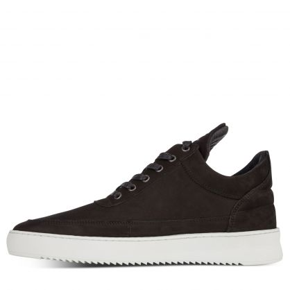 Black Low-Top Ripple Basic Trainers