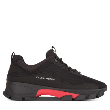 Black/Red Lux Radar Fade Trainers