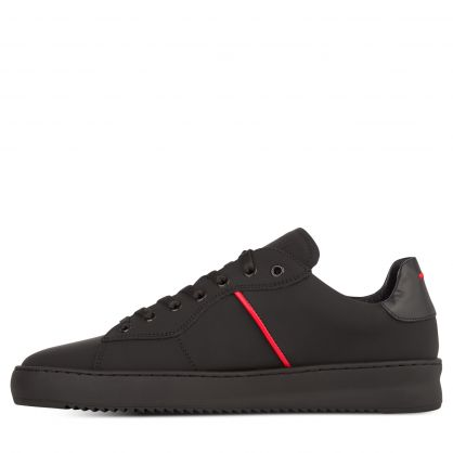 Black/Red Court Fade Trainers