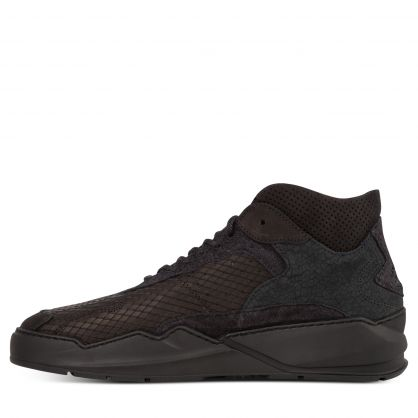Black Lay Up Icey Wool Trainers