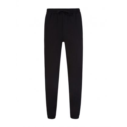 Black Taped Track Pants