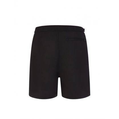 Black Contrast Panel Swim Shorts