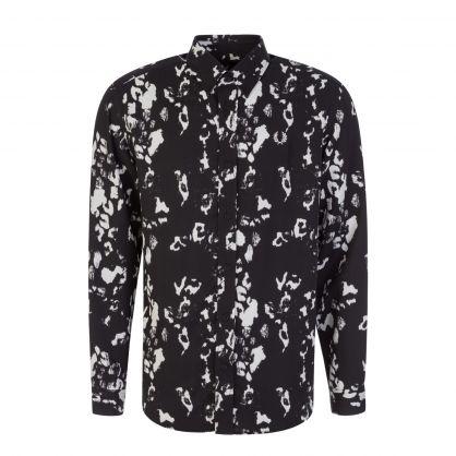 Black Monochrome Abstract Shirt