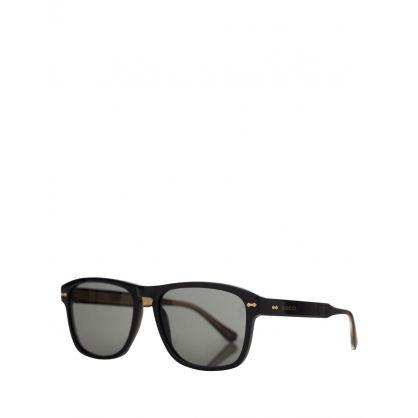 Black Gold Trimmed Sunglasses