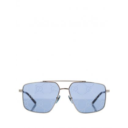 Silver GG Lens Aviator Sunglasses