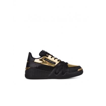 Black/Gold Shot Trainers