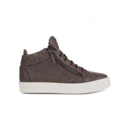 Taupe Mid-Top Koi Trainers
