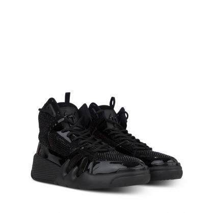 Black Suede Talon Trainers