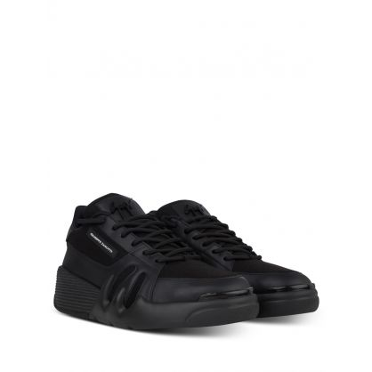 Black Suede Low-Top Talon Trainers