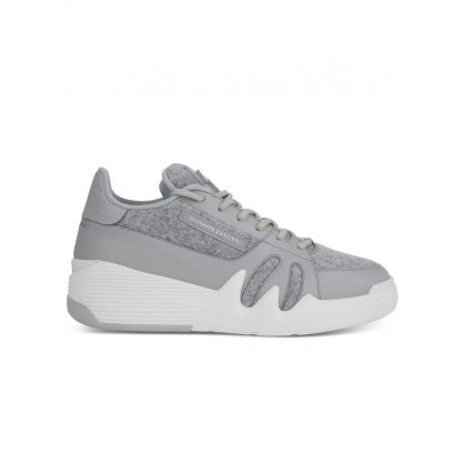 Grey Plush Talon Trainers