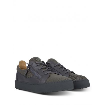Grey Zip Trainers