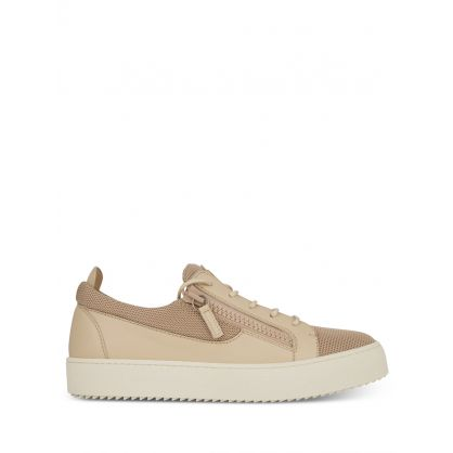 Beige Zip Trainers