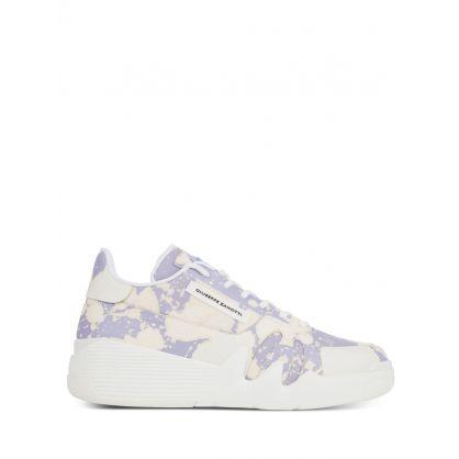 White/Lilac Talon Splatter Trainers