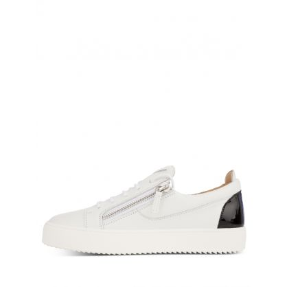 White Contrast Heel Trainers