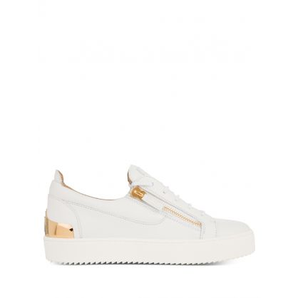 White Frankie Shell Trainers