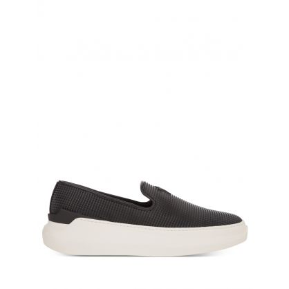 Black Eco Leather Conley Trainer Shoes