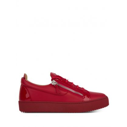 Red Low-Top Frankie Trainers