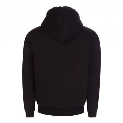 Black Living Room Asher Zip-Through Hoodie