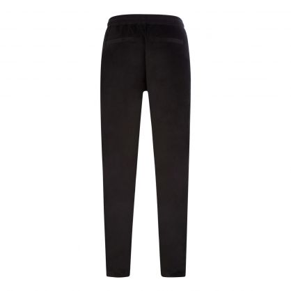 Black Velour Cotton Sweatpants