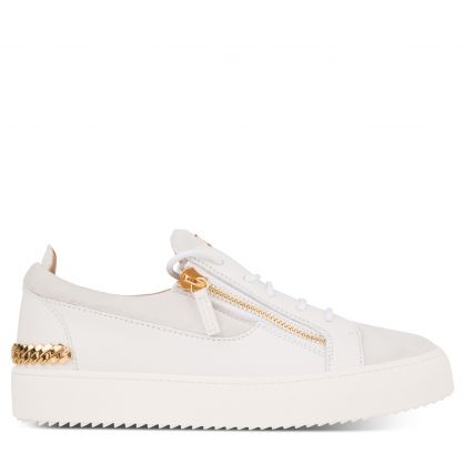 White May Chain Back Trainers
