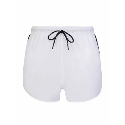 Menswear White Samoa Swim Shorts