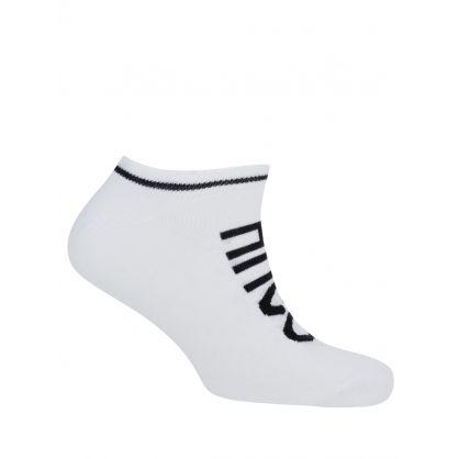 White 2 Pack Trainer Socks