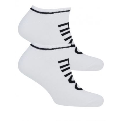 White 2 Pack Trainer Socks