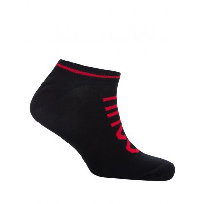 Black Cotton Trainer Socks 2-Pack