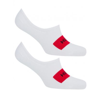 White 2 Pack Invisible Socks